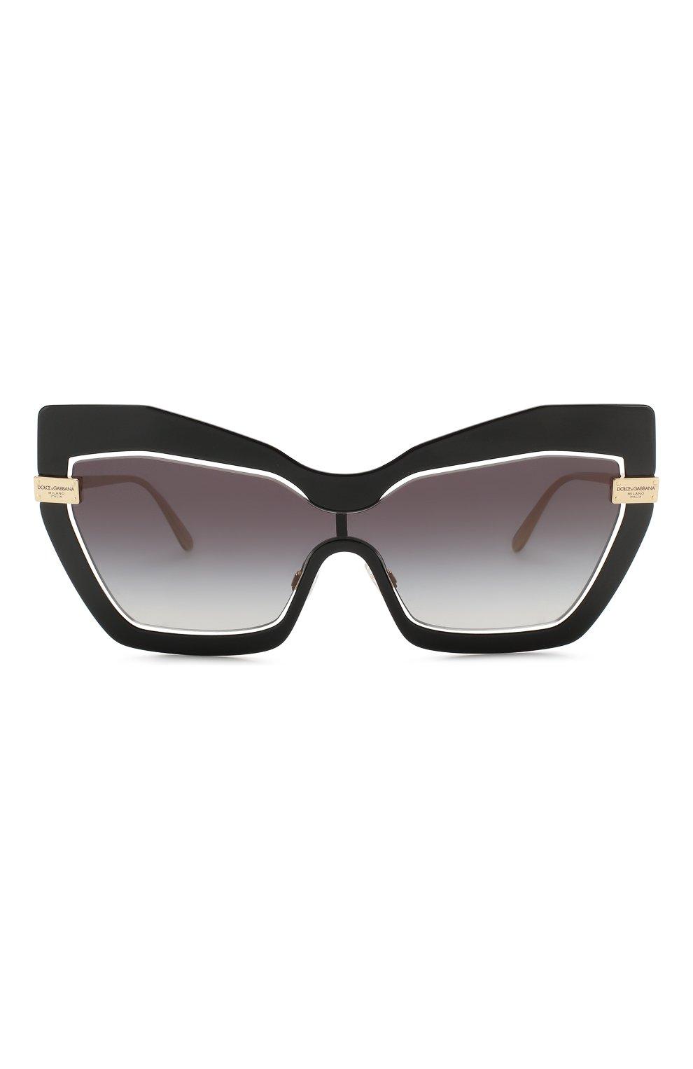 Женские солнцезащитные очки DOLCE & GABBANA черного цвета, арт. 2224-12688G | Фото 3