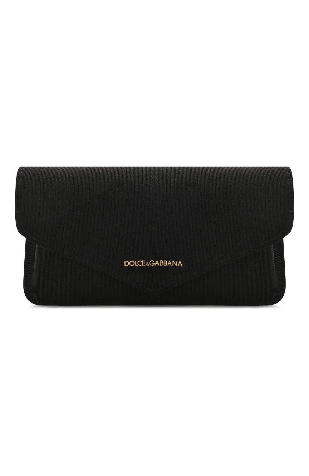Женские солнцезащитные очки DOLCE & GABBANA черного цвета, арт. 2224-12688G | Фото 5