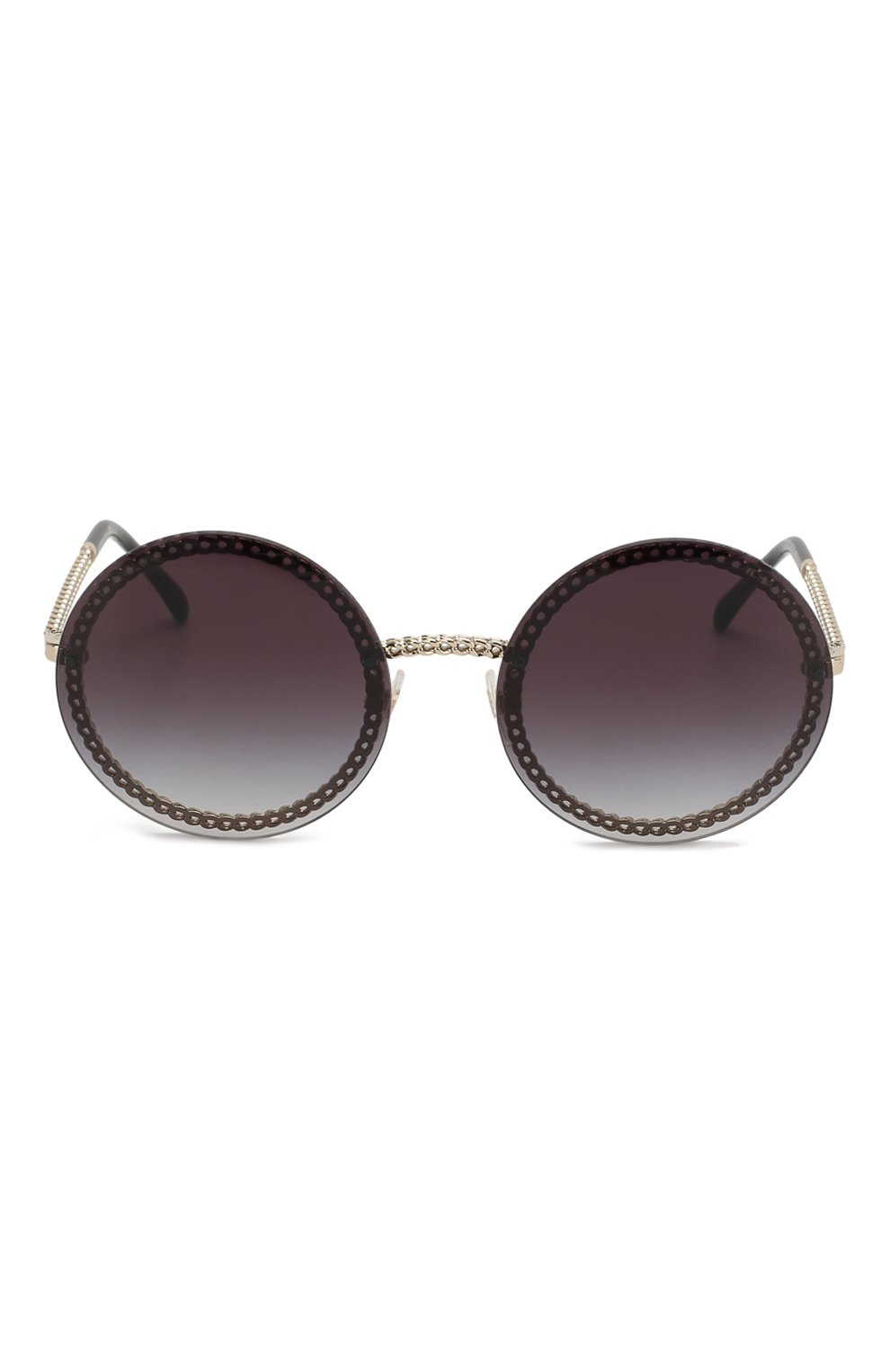 Солнцезащитные очки Chanel черные | Фото №3