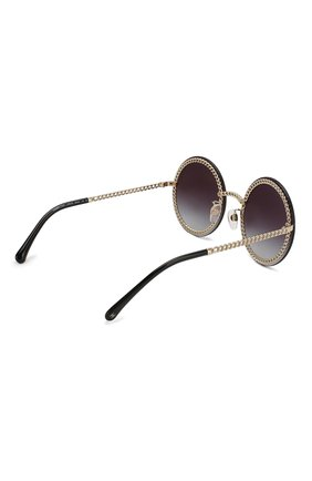 Солнцезащитные очки Chanel черные | Фото №4