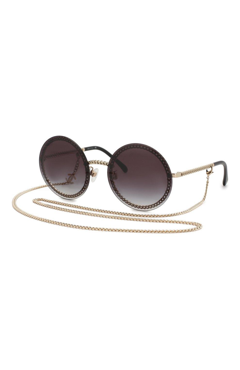 Солнцезащитные очки Chanel черные | Фото №5