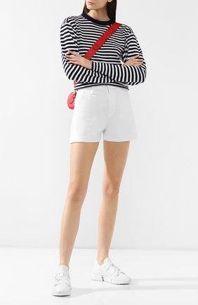 Женские комбинированные кроссовки sonnie CHLOÉ белого цвета, арт. CHC19S05175 | Фото 2