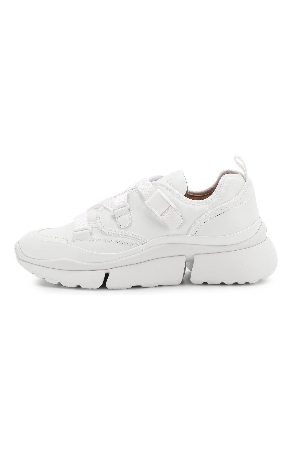 Женские комбинированные кроссовки sonnie CHLOÉ белого цвета, арт. CHC19S05175 | Фото 3