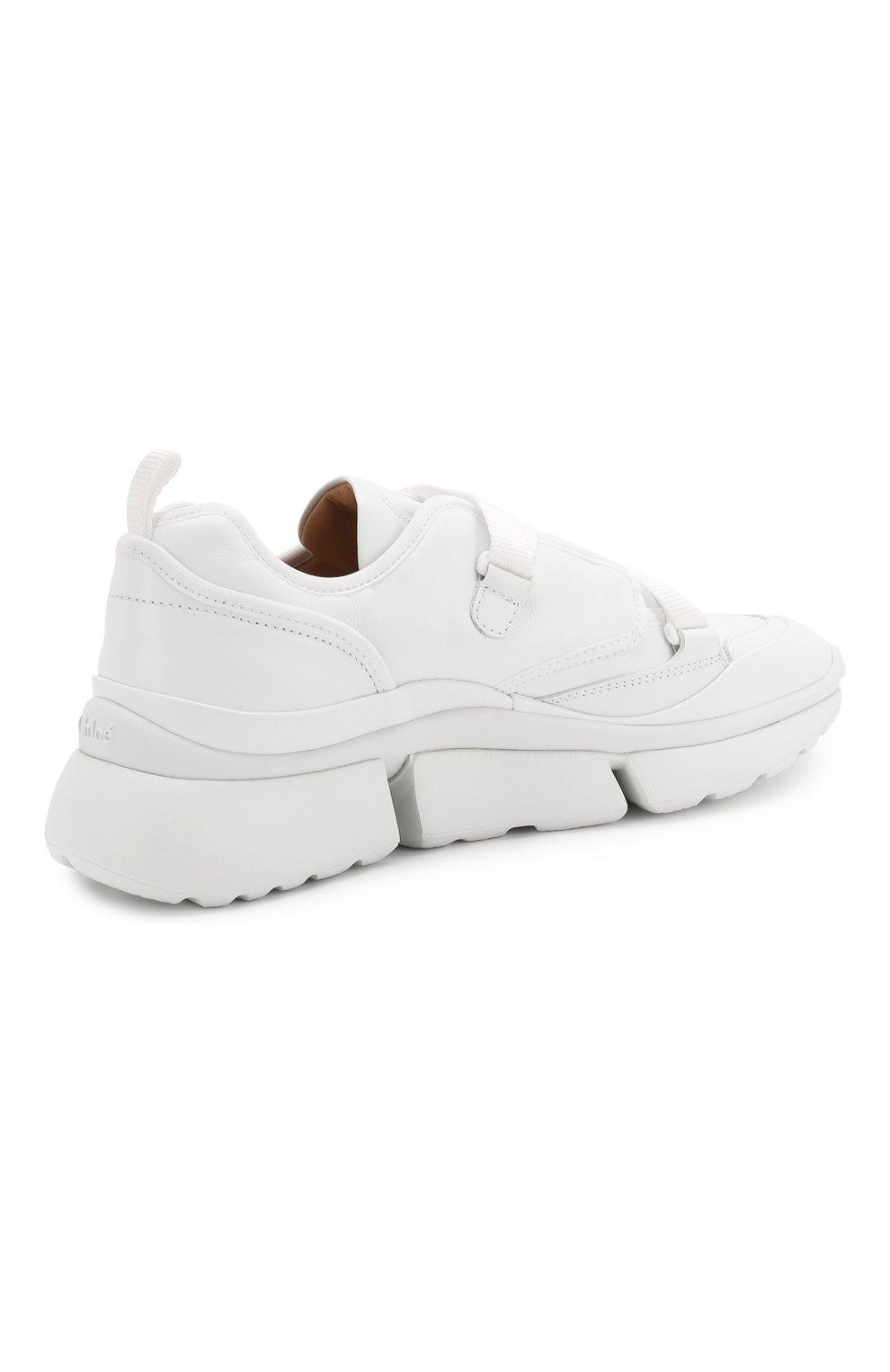 Женские комбинированные кроссовки sonnie CHLOÉ белого цвета, арт. CHC19S05175 | Фото 4