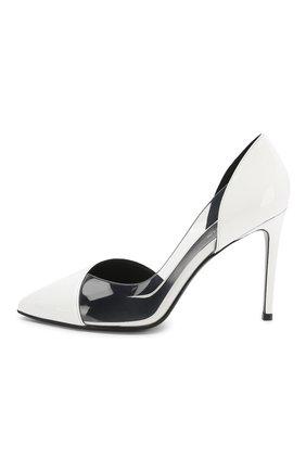 Кожаные туфли Lena Balmain белые | Фото №3
