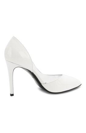 Кожаные туфли Lena Balmain белые | Фото №4