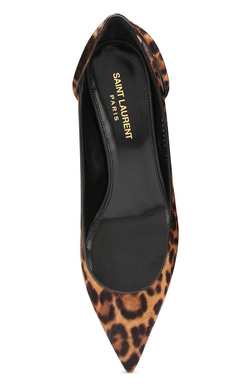 Кожаные туфли Charlotte Saint Laurent коричневые | Фото №5