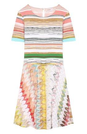 Платье из вискозы и хлопка | Фото №1