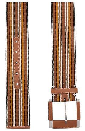 Женский текстильный ремень LORO PIANA коричневого цвета, арт. FAI6134   Фото 2 (Статус проверки: Проверена категория; Материал: Текстиль)