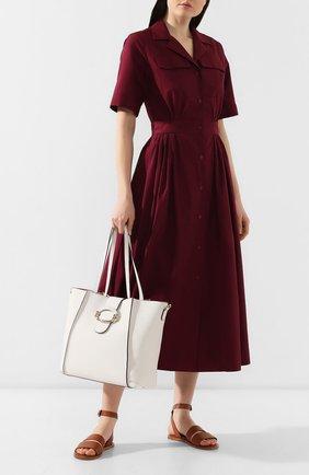Женская сумка double t TOD'S белого цвета, арт. XBWD0RA9300UCA   Фото 2
