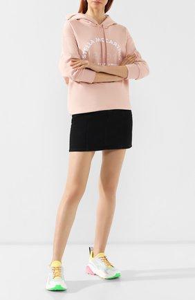 Текстильные кроссовки Eclypse Stella McCartney разноцветные | Фото №2