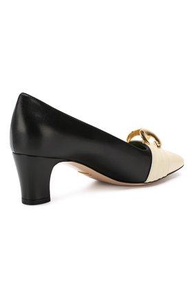 Кожаные туфли Gucci черно-белые | Фото №4