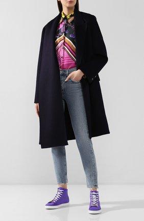 Женские замшевые кеды RUBEUS MILANO фиолетового цвета, арт. 002/16K | Фото 2
