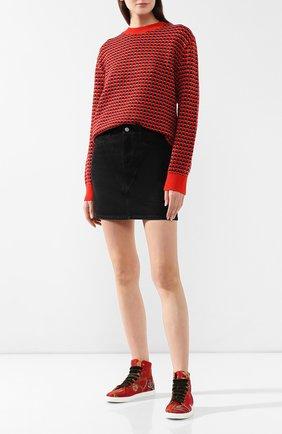 Женские текстильные кеды RUBEUS MILANO красного цвета, арт. LAN1 | Фото 2