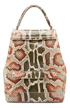 Женский рюкзак liza из кожи питона RUBEUS MILANO разноцветного цвета, арт. 002/16D040 | Фото 1
