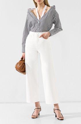 Женская хлопковая рубашка FLAMBE черно-белого цвета, арт. 003 | Фото 2