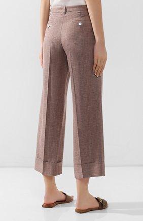 Женские брюки с отворотами KITON коричневого цвета, арт. D47119K06P19 | Фото 4