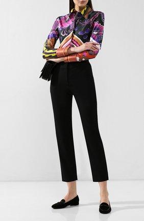 Женские шерстяные брюки GIORGIO ARMANI черного цвета, арт. 9SHPP04U/T0084 | Фото 2