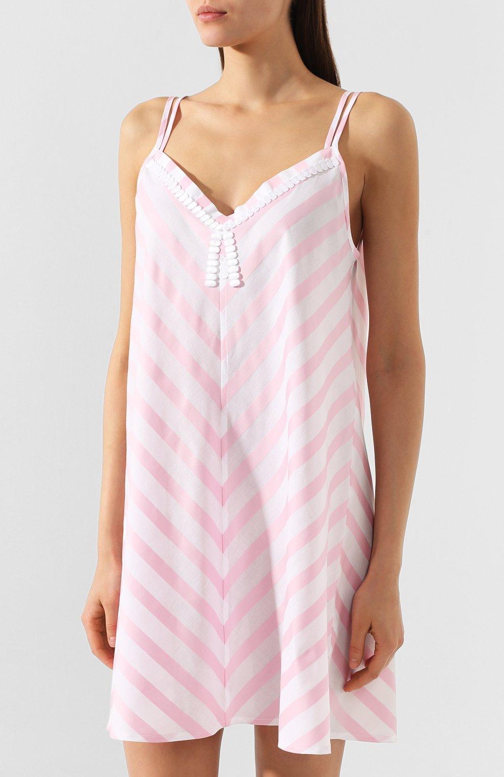 Женская хлопковая сорочка CELESTINE розового цвета, арт. 30002496/DALIAH T0P | Фото 3