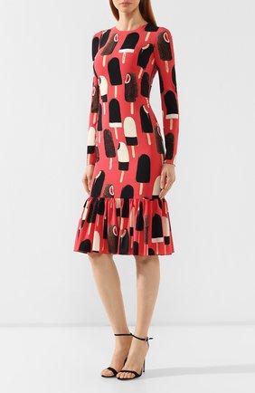 Шелковое платье Dolce & Gabbana розовое   Фото №3