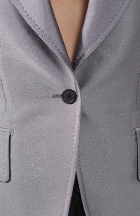 Приталенный жакет Tom Ford серый | Фото №5