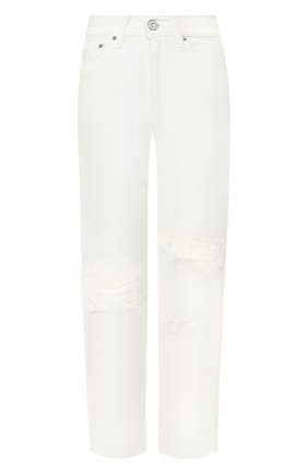 Женские джинсы с потертостями MOUSSY белого цвета, арт. 025CSC11-2280 | Фото 1