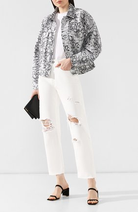 Женские джинсы с потертостями MOUSSY белого цвета, арт. 025CSC11-2280 | Фото 2