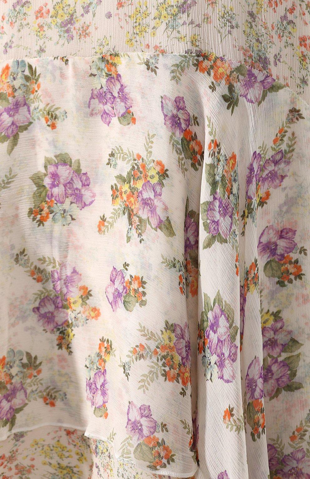 Платье с принтом Alice + Olivia разноцветное | Фото №5
