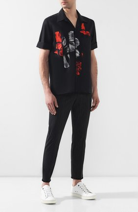 Мужской шерстяные брюки NEIL BARRETT черного цвета, арт. BPA655/L114 | Фото 2