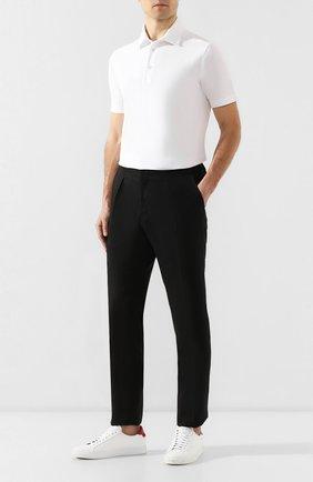 Мужские льняные брюки RALPH LAUREN черного цвета, арт. 798748639 | Фото 2