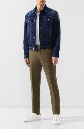 Мужской хлопковые брюки RALPH LAUREN хаки цвета, арт. 798748641   Фото 2