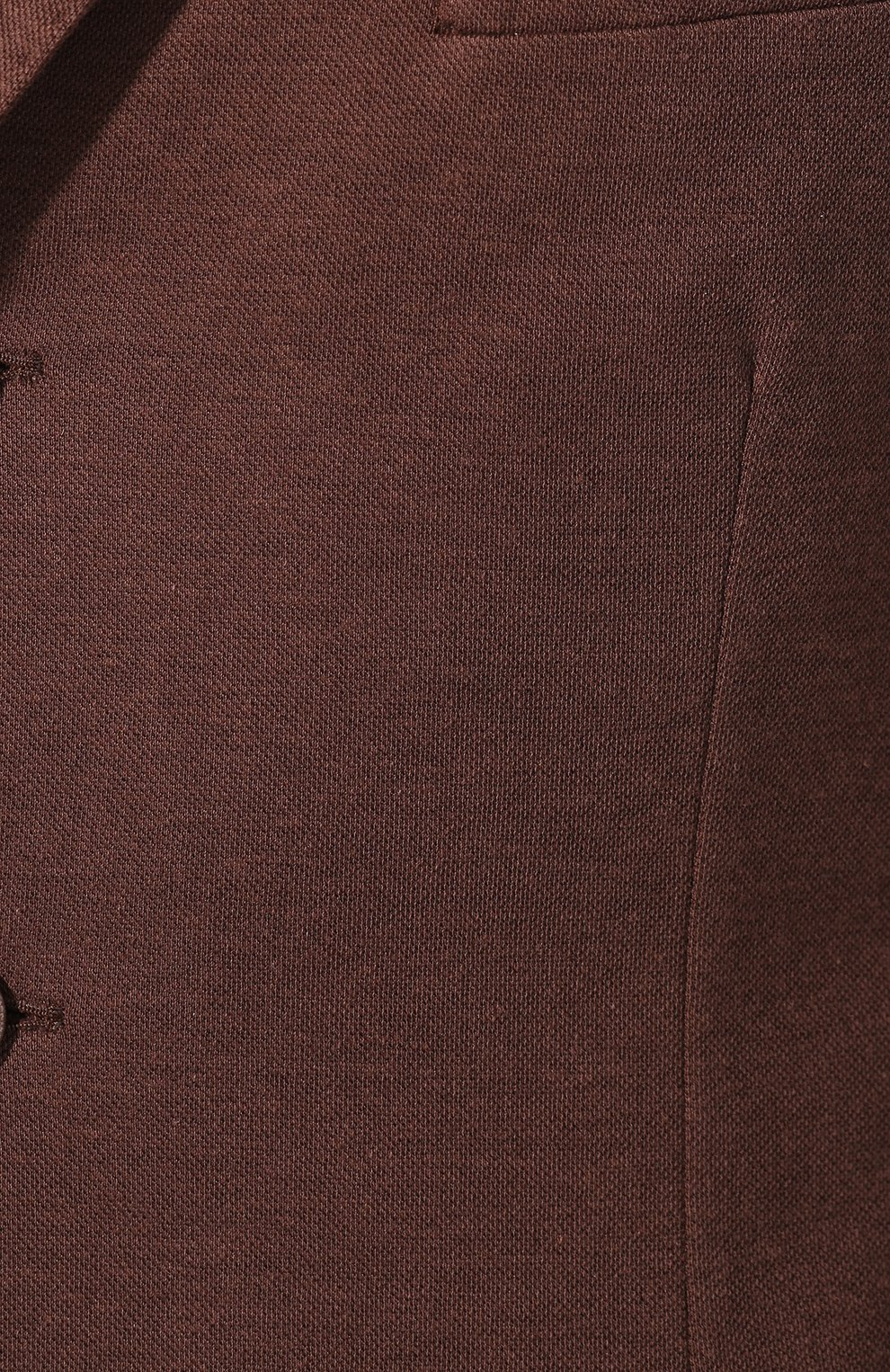 Мужской пиджак из хлопка и шелка LORO PIANA коричневого цвета, арт. FAE8388   Фото 5