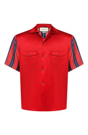 Мужская рубашка GUCCI красного цвета, арт. 572516/ZABSC | Фото 1
