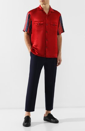 Мужская рубашка GUCCI красного цвета, арт. 572516/ZABSC | Фото 2
