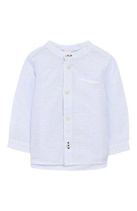 Рубашка изо льна и хлопка   Фото №1