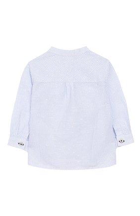 Рубашка изо льна и хлопка   Фото №2