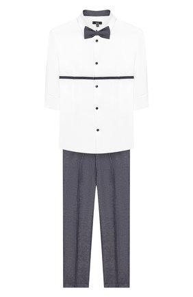Детский комплект из рубашки и брюк Clix серого цвета | Фото №1