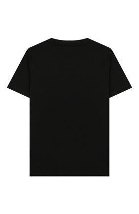 Детская хлопковая футболка BURBERRY черного цвета, арт. 8008881 | Фото 2