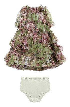 Комплект из платья и шелковых шорт   Фото №1