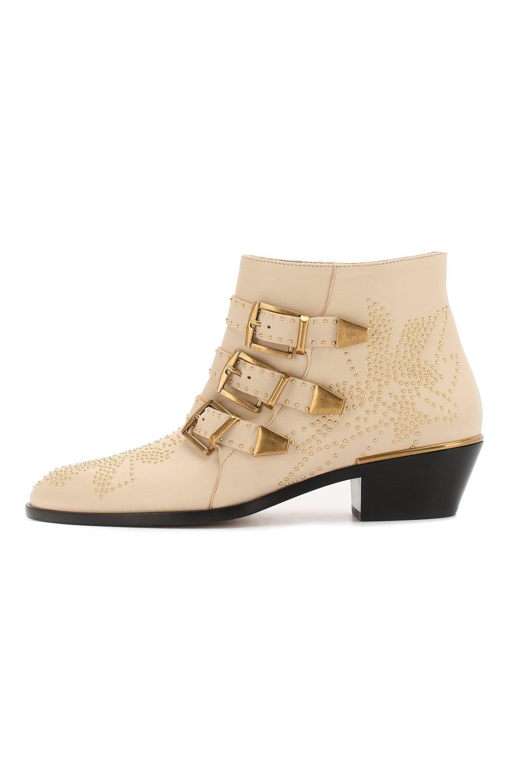 Кожаные ботинки Susanna Chloé кремовые   Фото №3