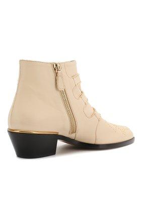 Кожаные ботинки Susanna Chloé кремовые   Фото №4