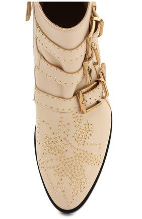 Кожаные ботинки Susanna Chloé кремовые   Фото №5