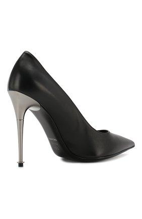 Кожаные туфли Tom Ford черные | Фото №4