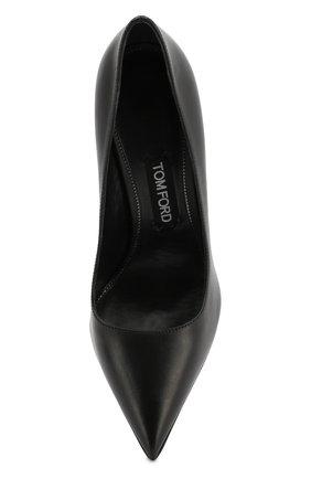 Кожаные туфли Tom Ford черные | Фото №5