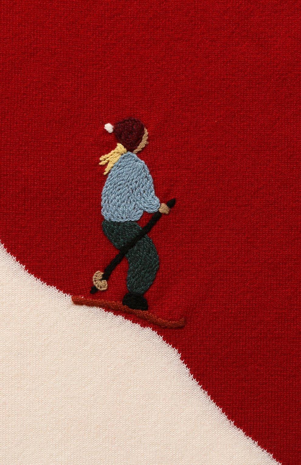 Кашемировый шарф Loro Piana красный | Фото №2