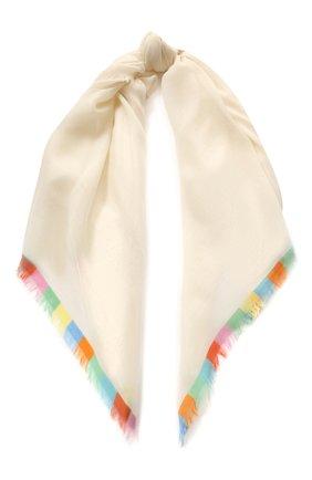 Женский кашемировый платок harlequin LORO PIANA белого цвета, арт. FAI4694 | Фото 1