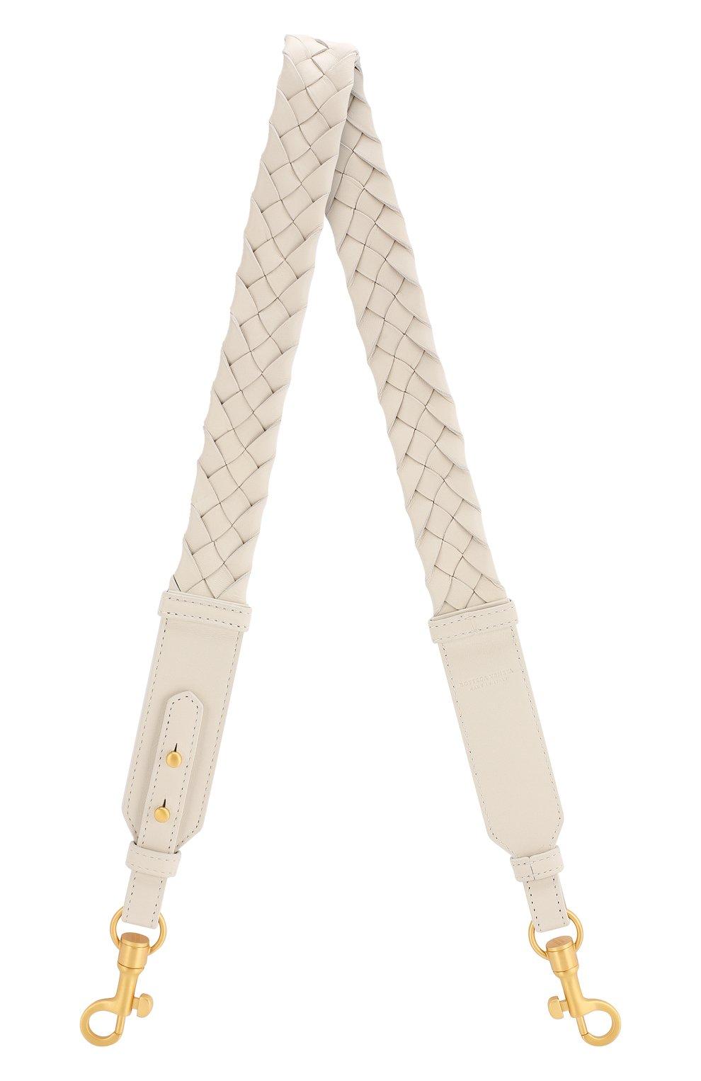 Женские кожаный ремень для сумки BOTTEGA VENETA белого цвета, арт. 567375/VCEW3 | Фото 1
