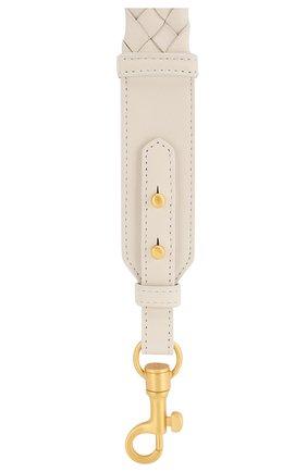 Женские кожаный ремень для сумки BOTTEGA VENETA белого цвета, арт. 567375/VCEW3 | Фото 2
