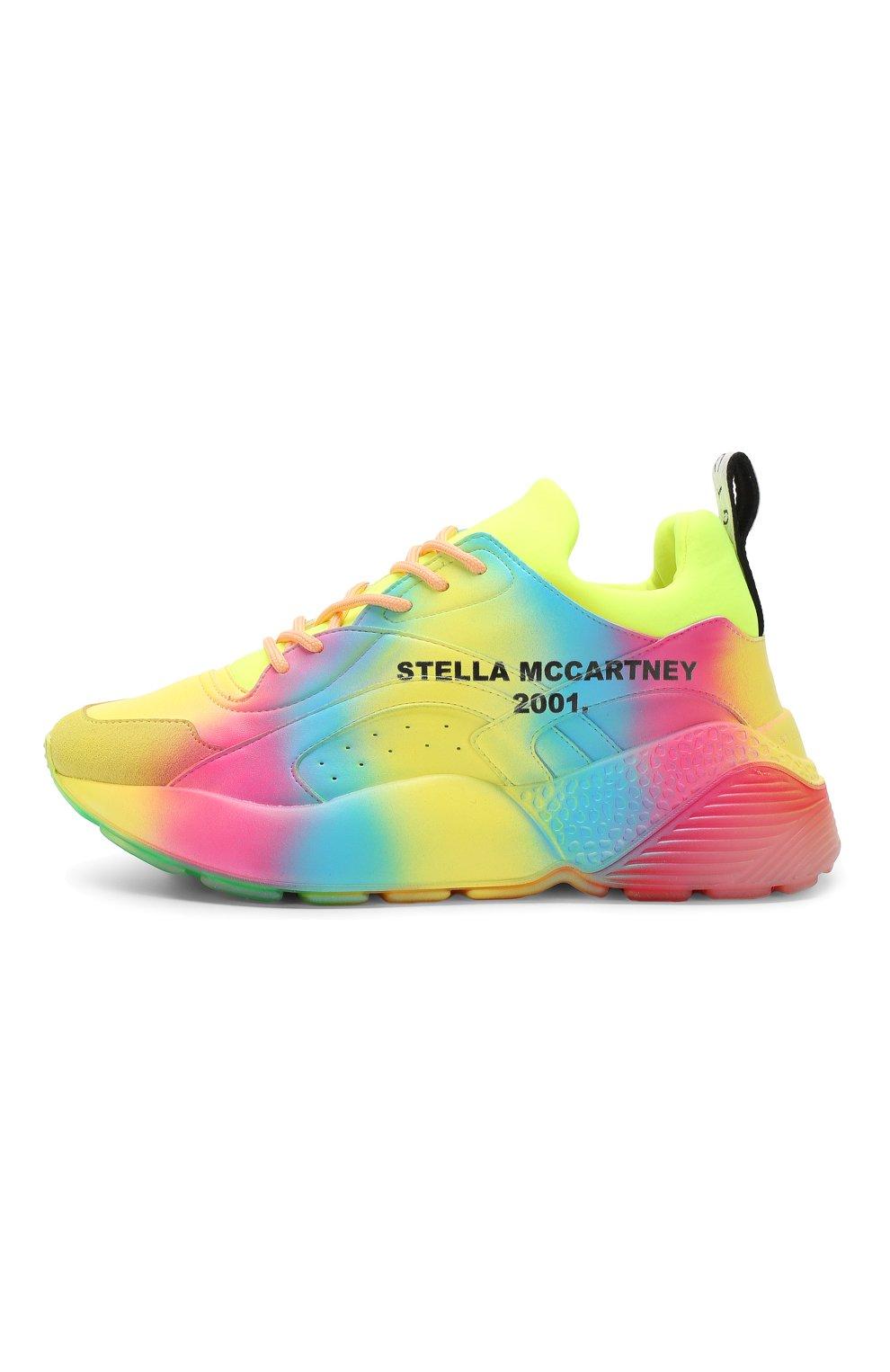 Текстильные кроссовки Eclypse Stella McCartney разноцветные   Фото №3