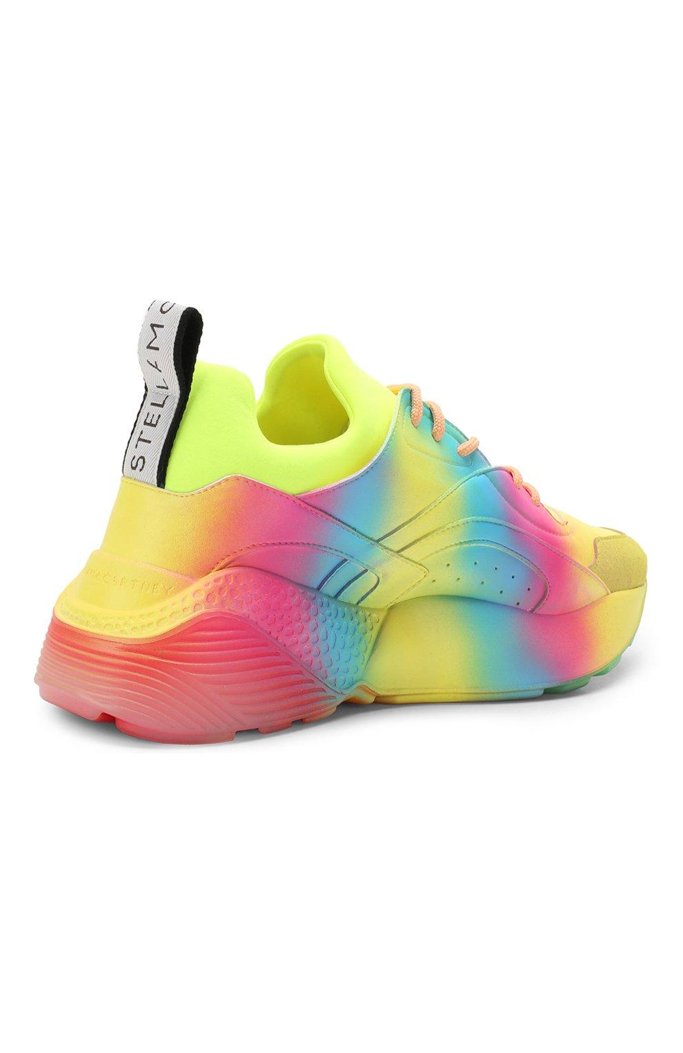 Текстильные кроссовки Eclypse Stella McCartney разноцветные   Фото №4